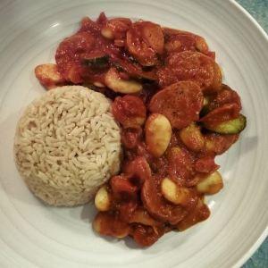Chorizo and Butter Bean Stew