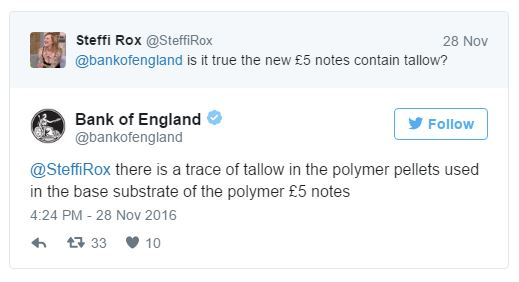 Bank of England Tweet