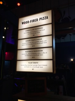 Wood Fired Pizza Menu