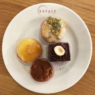 Cakes at Eataly