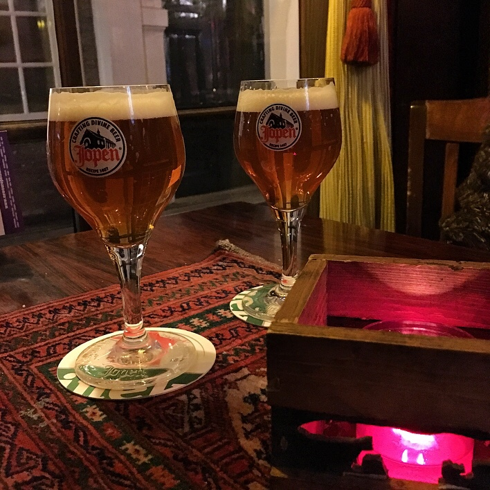 Beers in an Amsterdam Cafe
