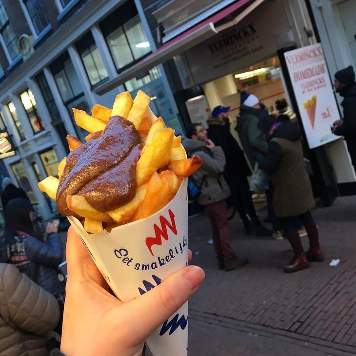 Fries and Satay Sauce